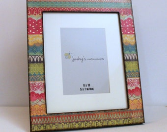 8x10 5x7 Photo Frame Colorful Lace
