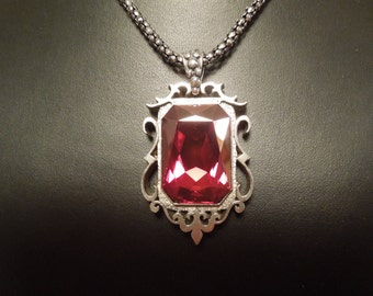 Isabelle/Camille's Ruby Inspired Pendant Necklace