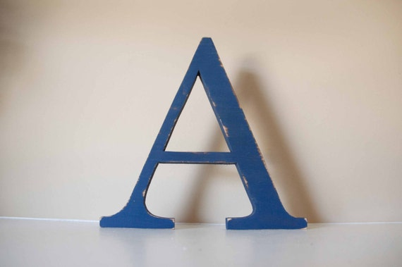 "Nursery Letter- Baby Name, Wood Letter, 12"" tall"