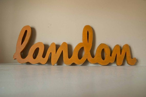 Nursery Baby Name Sign, Large Name, Nursery Letters, Wooden Name Sign