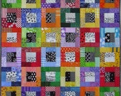 PDF Quilt Pattern -- Digital Pattern for Color Blocks wall quilt (pdf)