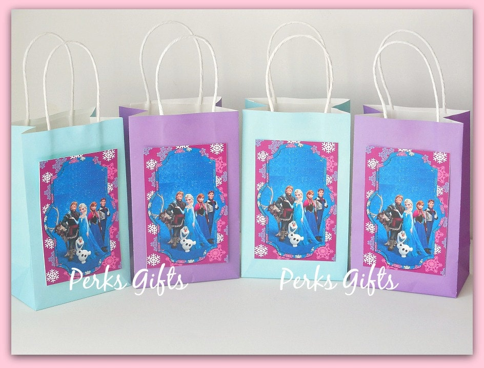 Frozen Party Favor Bags Frozen Party Decorations By Msperks