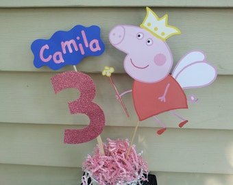 Pig girl party decoration centerpiece