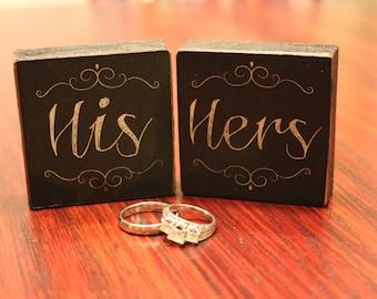 Vintage Wood  'His & Hers' Sign Set