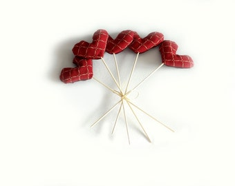 hearts bouquet on a stick for home decoration gift idea