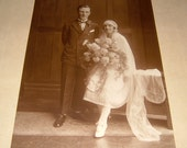 1920s Art Deco Wedding Photo Sepia Photo Vintage Photo Art Deco Photo Vintage Wedding Photograph English Wedding Photograph