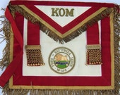 RAOB Pride of Battersea Lodge No 314 KOM Apron with Enamel Badge & Gilt Trim Vintage Buffaloes Vintage Masonic Vintage RAOB