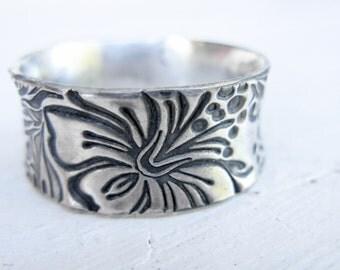 Aloha Ring - Fine Silver