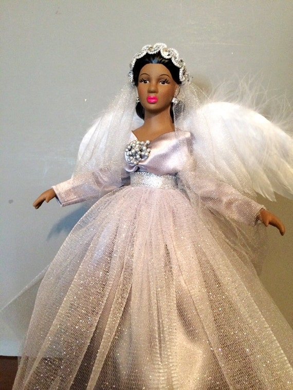 African American Christmas Angel Tree Topper by ...