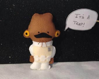 Star Wars Admiral Ackbar - Its a trap! - Felt Toy