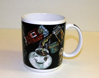 STARBUCKS Coffee Mug Cup Barista Espresso Scene
