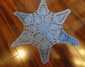 Blue starfish doily, beachy decor