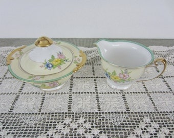 Vintage Sugar and Creamer China, Made in Japan, Floral Sugar and Creamer.... Unknown Pattern???