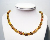 Love You Honey - Lampwork Glass Bead Necklace