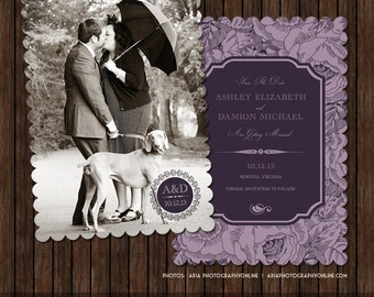 5x7 Save the Date Card Template - S18
