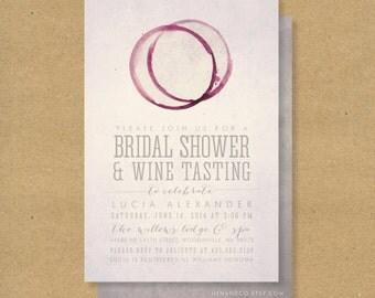 WINE TASTING Bridal Shower Invitation - Printable - Winery or Wine theme