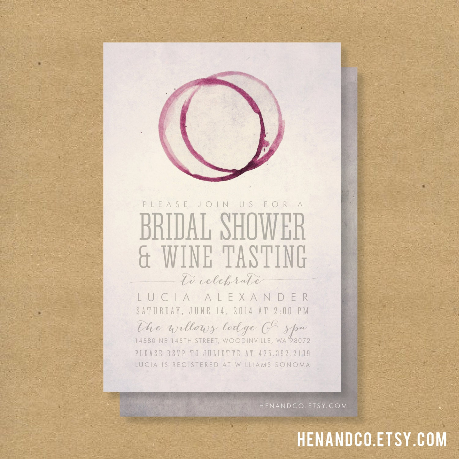 Winery Wedding Invitations is beautiful invitation sample