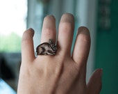 Rabbit Ring | Brown Bunny | Gift Under 10