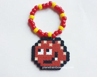 Meatwad Kandi Bracelet - Aqua Teen Hunger Force - Rave - EDC - Perler Beads - Cartoon Network - ATHF