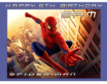 Spiderman Personalised A4 Edible Icing Topper