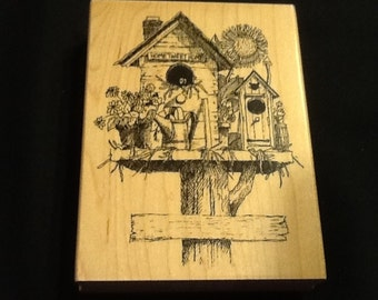 Bird House Stamp from Impressions Obsessions