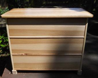 Hickory Wood Dresser, Dresser, Woodworking, Furniture, 3 Drawer Dresser, Bedroom Furniture, Office Cabinet, New Wood, Dan Leasure