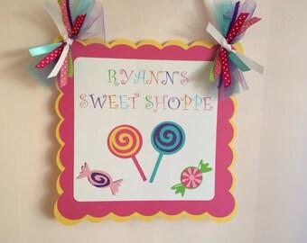 Sweet Shop Door Banner