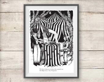 The Night Circus Bailey and Tsukiko Print