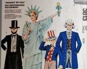McCall's 3813 Child Halloween Costume Pattern Sz 12/14 Abe Lincoln Ms Liberty Geo Washington Ships Free in U.S.