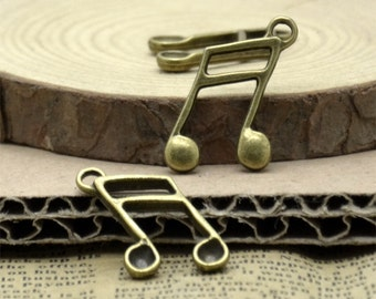 12 pcs Antiqued brass musical note,partition findings,Pendant,Findings,Charms,Jewelry Findings