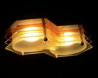 Hanging LED-based ceiling light