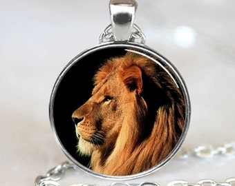 Lion Handcrafted  Jewelry Necklace  Pendant (PD0006)