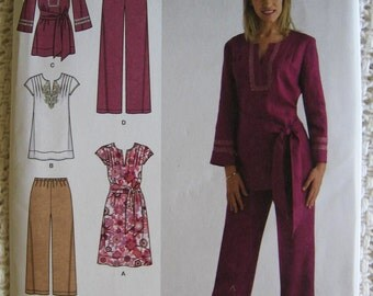 Simplicity Dress Tunic Pants Pattern 2371 Size 20 22 24 26 28  W  Plus UC FF Uncut