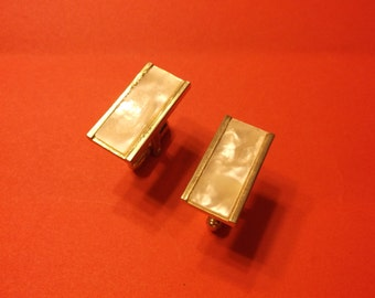Mother of Pearl Cuff Links Gold Tone Lower Price