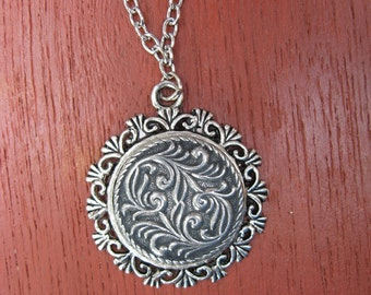 Pewter Button Necklace from Norway Dale Frame