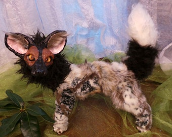 African Wild Painted Dog Posable Art Doll