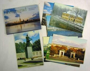 Leningrad Russia Architectural Landmarks Postcard Set 18 Cards 1980s St Petersburg USSR Soviet Union