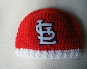 Crocheted Cardinals Inspired Beanie/Hat - MADE TO ORDER - Handmade by Me