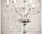 CUSTOM PRINT ORDER - Shaina