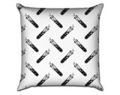 """Test Tubes for Science - Original Pattern Sofa Throw Pillow Envelope Cover for 18"""" inserts"""