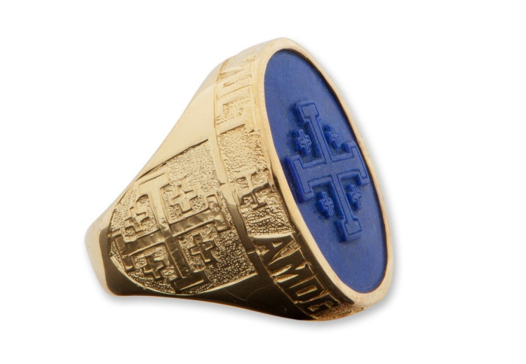 Custom Mens Rings Signet And Crest Gold Plated Sterling By