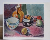 The Bowl, Cup and Fruit- french painting by Henri Matisse. Printed in The USSR.