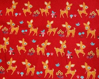 Cosmo Textiles Deer Bambi Fabric