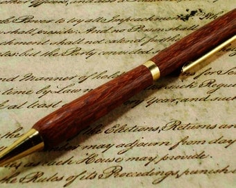 Leopardwood Pen - Slimline Style with Gold Finish