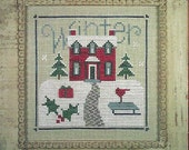 """Clearance - """"Winter Sampler""""  Counted Cross Stitch Chart by Lizzie Kate"""
