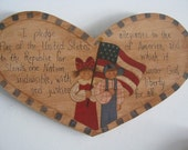 Patriotic, Wall Decor/Decoration, Pledge of Allegiance, Prim, Kid,Flag