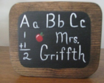 Pencil Holder, Teacher's Gift, Teacher Appreciation Gift, handpainted, Christmas gift