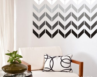 Wall Decals Chevron Pattern (smaller design) - Vinyl Art Stickers