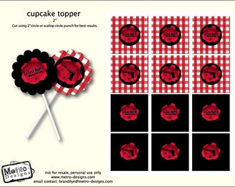 Mobster Theme, Cupcake Toppers