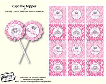 Little Princess Baby Shower - Tags/Toppers
